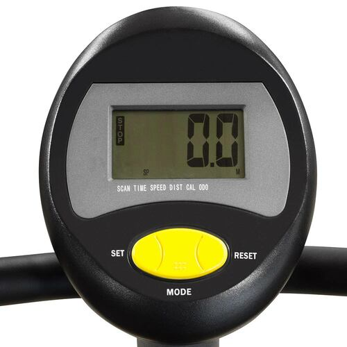 The Upright Magnetic Bike NS-714U by Marcy includes a display monitor to easily track your riding progress