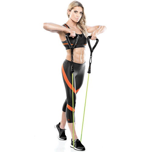 Heavy Duty Bionic Body 20 lb Resistance Band in use by Kim Lyons - Curls