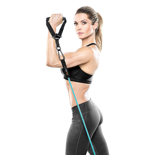 Heavy Duty Bionic Body 30 lb. Resistance Band in use by Kim Lyons - Curls
