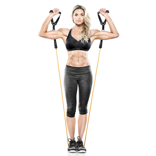 Heavy Duty Bionic Body 50 lb Resistance Band in use by Kim Lyons