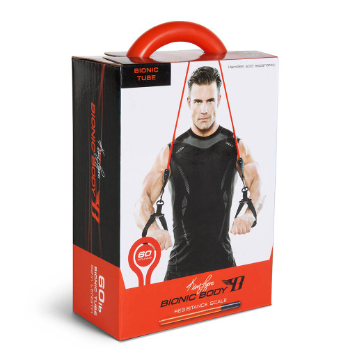 Long lasting Bionic Body 60 lb Resistance Band Inside of the package