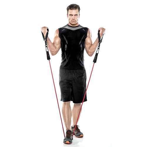 Heavy Duty Bionic Body 70 lb Resistance Band in use