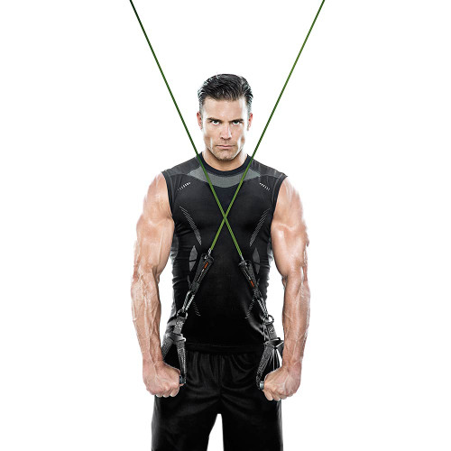 Heavy Duty Bionic Body 80 lb Resistance Band in use