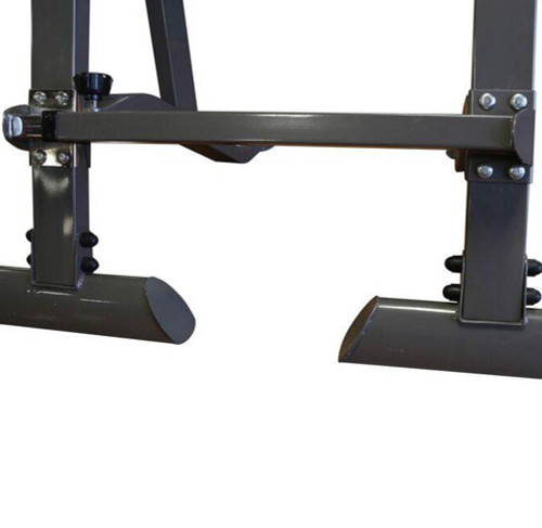 The Marcy Adjustable Squat Rack MWB-70100 is built to last with sturdy steel