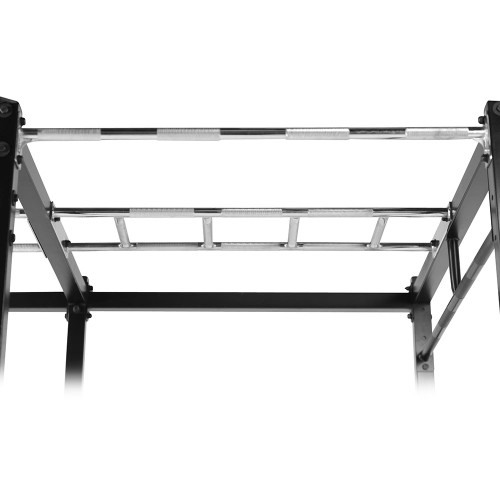 The Steelbody T-Rack STB-98001 includes spaced bars for varied pull ups