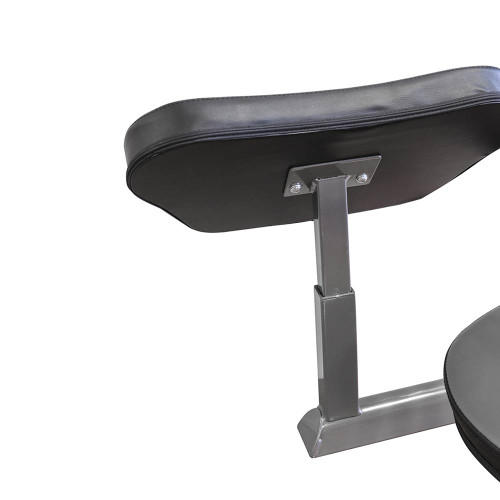 The Marcy Foldable Mid-Size Workout Bench MWB-50100 by Marcy has a storage post for the preacher curl