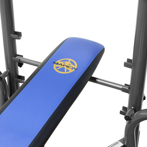 The Marcy Standard Bench with 80 lb Weight Set MWB-36780B by Marcy adds variety to your workout with incline, decline, flat and Military positions