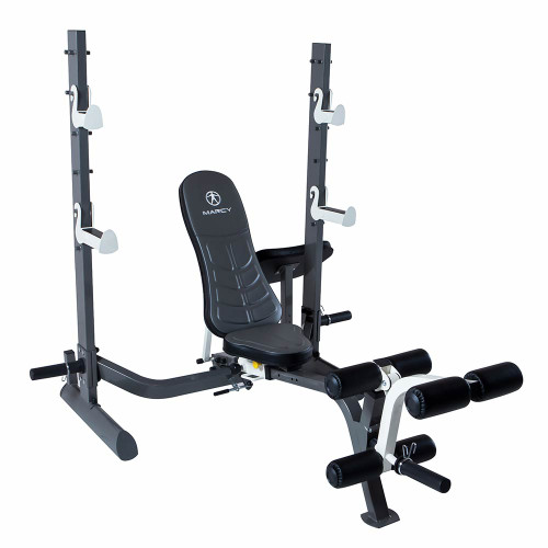 The Marcy Multi-position Foldable Olympic Weight Bench MWB-70205 by Marcy adds variety to your workout with incline, decline, flat and Military positions