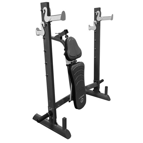 The Marcy Multi-position Foldable Olympic Weight Bench MWB-70205 conveniently folds to save space