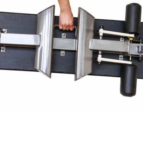 The Marcy Flat Bench SB-10500 has a handle for convenient transportation