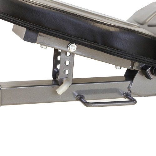 The Marcy Deluxe Utility Bench SB-10100 has an adjustable seat