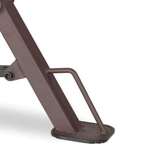The Steelbody STB-98502 Power Tower with Foldable Bench includes a handle for easy transport