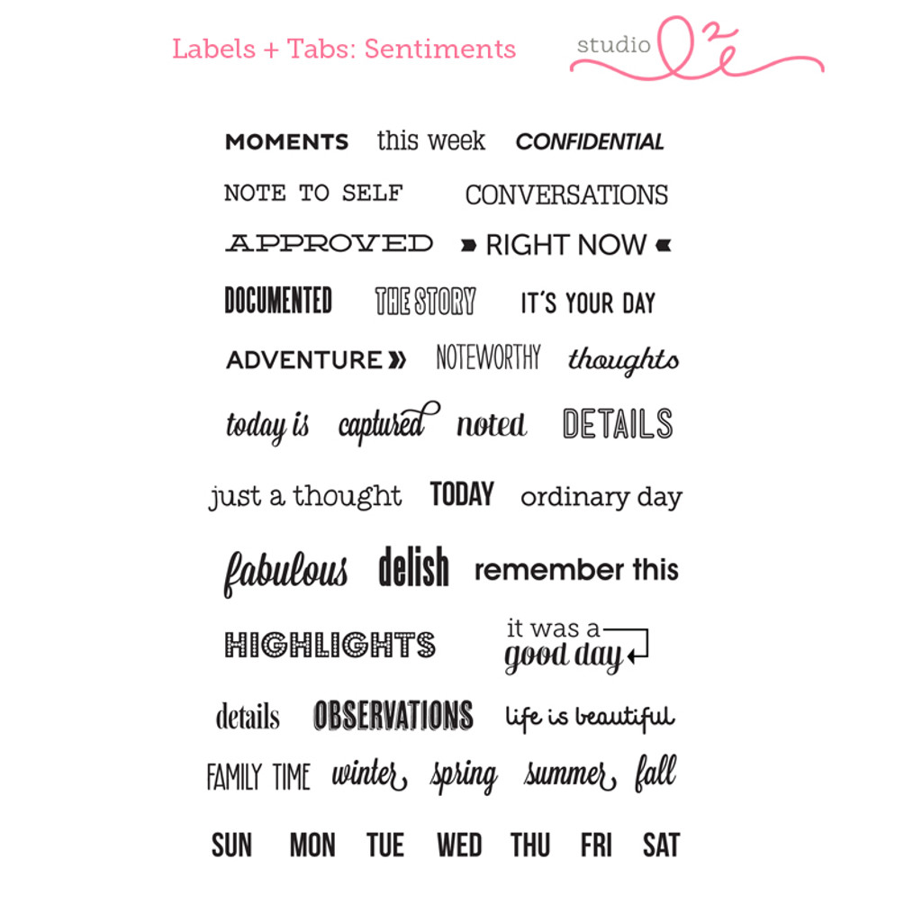 Labels & Tabs: Sentiments