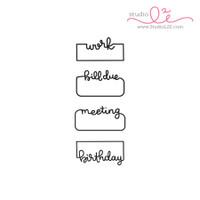 Written Reminders 1 - 2x4