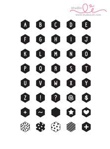 Hexagon Alphabet