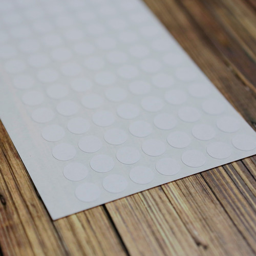 """White .4"""" Removable Circle Stickers"""