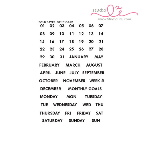 Bold Dates