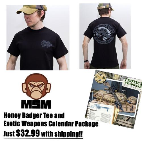 Black Honey Badger Tee EXW Pack $32.99 w/S&H!