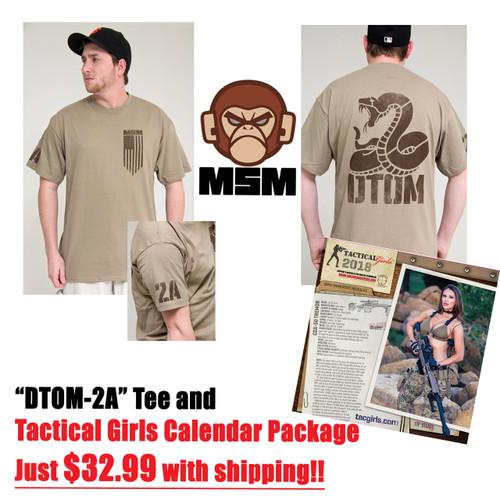 DTOM-2A T-shirt Tan TGC Pack $32.99 w/S&H!