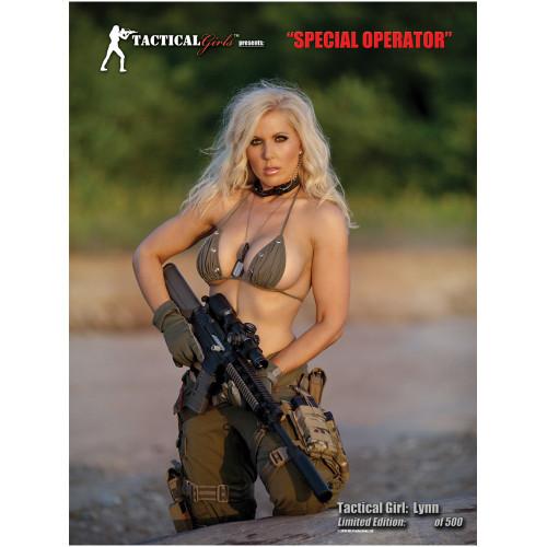 Lynn Signed Special Operator Girl Poster