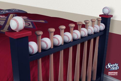 ... AllStar 3 Pc Twin Baseball Bedroom Set