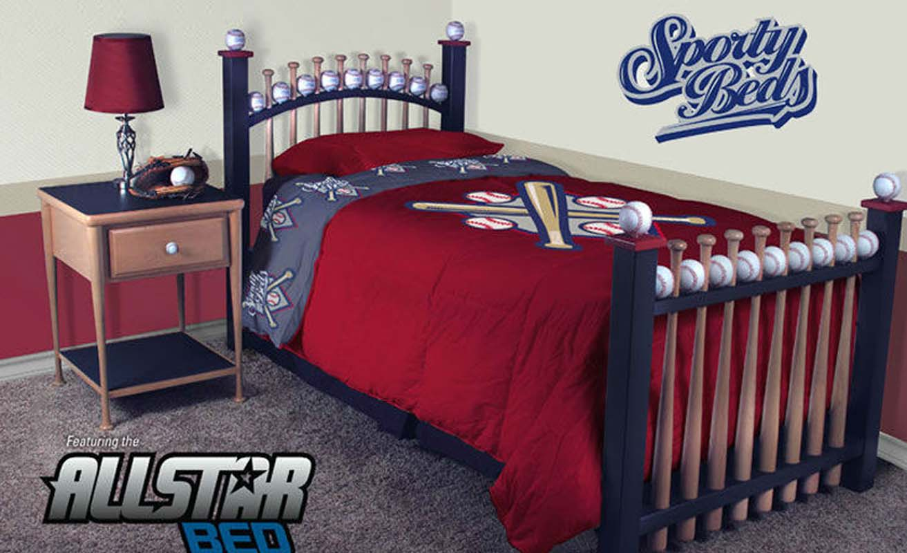 Allstar Twin Baseball Bed Baseball Furniture For Kids And Adults Of Any Age