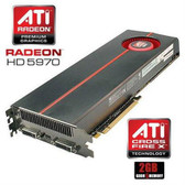 ATI Radeon HD 5970 2GB Video Card With Backplate DVI