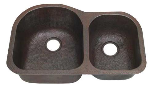 Custom Copper Double Kitchen Sinks