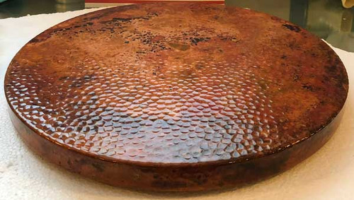 "Lazy Susan Hammered Copper 15"" Fire"