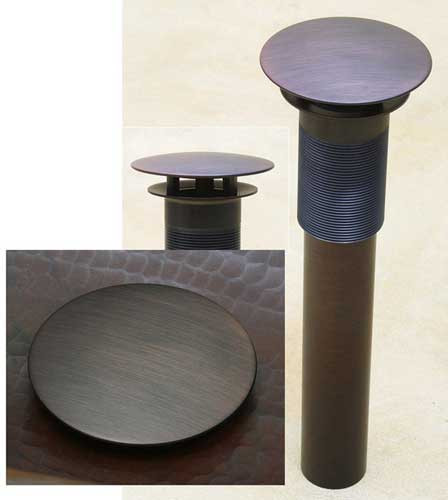 Non operational Button drain for hammered copper sinks (NOU1DK)