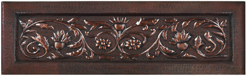 Exotic vine copper apron front kitchen sink