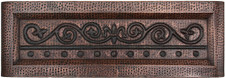 Farmhouse (FHA-FDL) Fleur De Lis Designer Front Copper Kitchen Sink