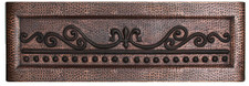 FDLSC-Fleur De Lis Scroll Design in our MEDIUM Duo-Tone Finish