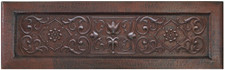 Farmhouse (FHA-FTL) Copper Kitchen Sink Floral Trellis Designer Front