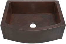 farmhouse sink fhaw1rfe rounded front wflat ends copper