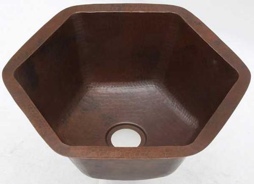 HBV16-Dark hexagon copper bar sink
