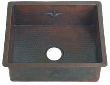 Kitchen (KDI2218S) Copper Sink Copper Bar/Prep