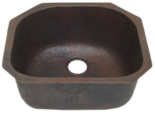 Kitchen (KDI-CTR) Copper Sinks Single Contoured Bowls-11 sizes