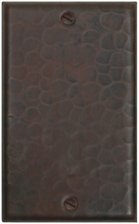 Hammered copper Light switch cover blank