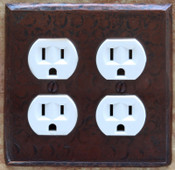 Switch Plate Cover (LSC200) 2 Gang Double Standard Outlet Plug Plate Cover *free shipping*