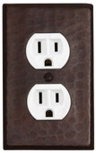 Switch Plate Cover (LSC202) 1 gang Standard Single Outlet Plug Cover w/Screws
