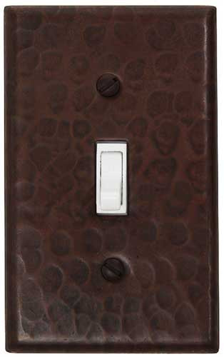 Single toggle light switch copper cover