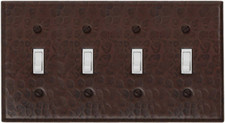 Switch Plate Cover (LSC404) 4 Gang Quad Standard Toggle