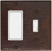 Switch Plate Cover (LSC420) 2 Gang Deco Decora GFI + Standard Toggle *free shipping*