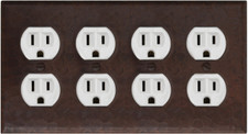 Switch Plate Cover (LSC700) 4 Gang Standard Double Plug *free shipping*