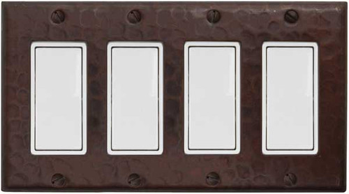 Quad decora rocker style switch plate cover