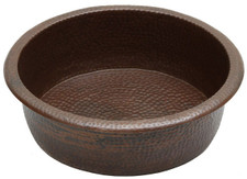 Pedicure (PED19) hammered copper spa bowl