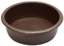 Pedicure (PED19) hammered copper spa bowl pedicure foot soak