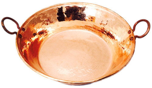 Large copper cazo with handle for pedicure foot soak