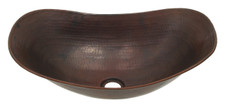 Copper Vessel (SLV18) Large Above Counter Sleigh Sink